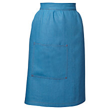 Buy Sophie Conran Half Apron, Blue Online at johnlewis.com