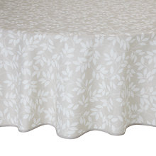 Buy John Lewis Trailing Leaves Wipe Clean Round Tablecloth, Dia.180cm Online at johnlewis.com