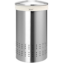 Buy Brabantia Laundry Bin, Matt Steel, 50L Online at johnlewis.com