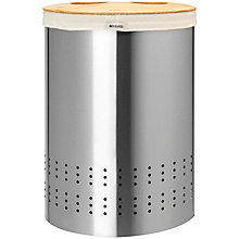 Buy Brabantia Selector Laundry Bin, Brilliant Steel, 40L Online at johnlewis.com