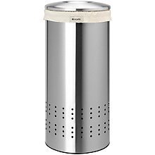 Buy Brabantia Laundry Bin, Matt Steel, 30L Online at johnlewis.com