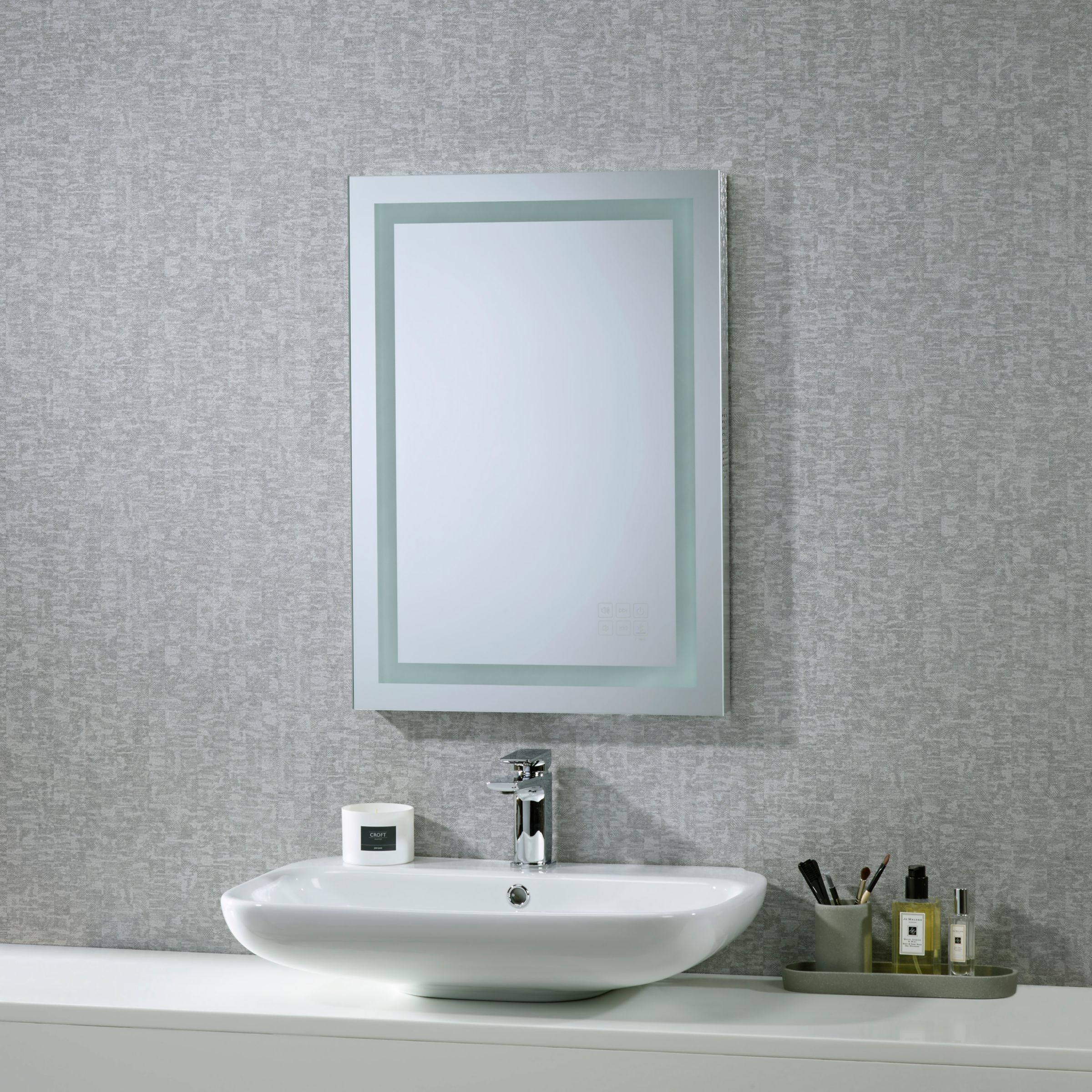 Roper Rhodes Roper Rhodes Encore Illuminated Led Bathroom Mirror with Integrated Stereo