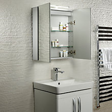 Buy Roper Rhodes Conduct Illuminated Double Bathroom Cabinet Online at johnlewis.com