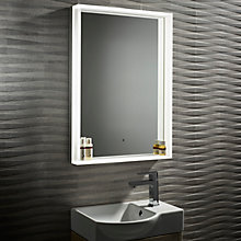 Buy John Lewis Aura Illuminated LED Bathroom Mirror Online at johnlewis.com