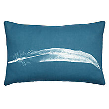 Buy John Lewis Croft Collection Feather Cushion, Blue Online at johnlewis.com