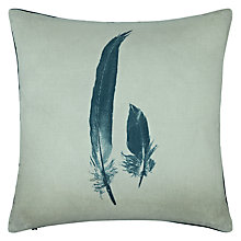 Buy John Lewis Croft Collection Feather Cushion, Grey Online at johnlewis.com
