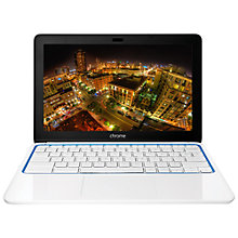 "Buy HP Chromebook 11-1126UK, Samsung Exynos, 2GB RAM, 16GB eMMC, 11.6"", White Online at johnlewis.com"