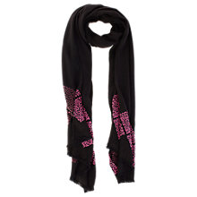 Buy Coast Nida Scarf, Black Online at johnlewis.com