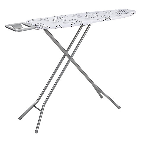 Buy John Lewis Circles Ironing Board, Grey / White, L122 x W45cm Online at johnlewis.com