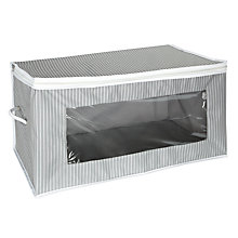 Buy John Lewis Rectangular Storage Bag, Grey Stripe Online at johnlewis.com
