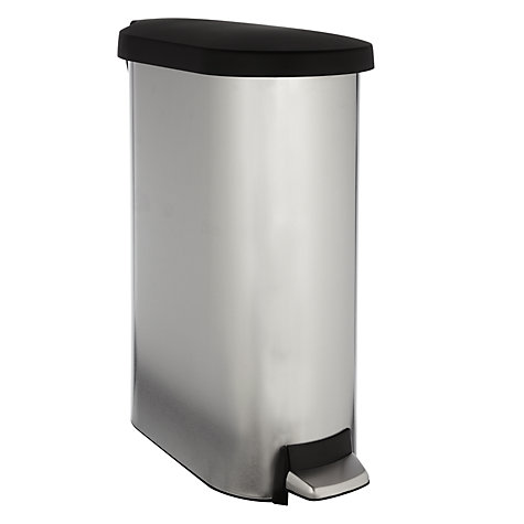 Buy simplehuman Slim Pedal Bin, Brushed Stainless Steel, 45L Online at johnlewis.com