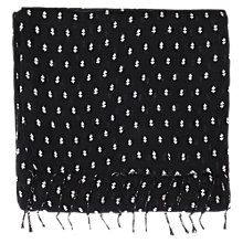 Buy Warehouse Deco Spot Print Scarf, Black Online at johnlewis.com