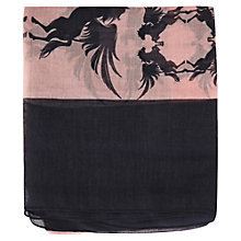 Buy Warehouse Border Pegasus Scarf, Light Pink Online at johnlewis.com