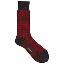 Buy Reiss Benny Print Socks, One Size Online at johnlewis.com