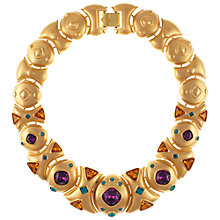 Buy Eclectica Vintage 1980s Napier Gold Plated Rhinestone Statement Necklace Online at johnlewis.com