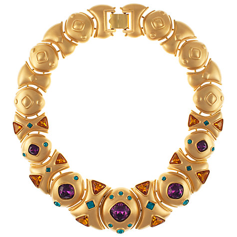Buy Eclectica 1980s Napier Gold Plated Rhinestone Statement Necklace Online at johnlewis.com