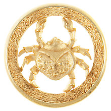 Buy Eclectica 1960s Cancer Zodiac Brooch, Gold Online at johnlewis.com