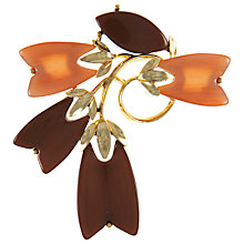 Buy Eclectica 1950s Lisner Gold Plated Thermo Plastic Brooch Online at johnlewis.com