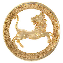 Buy Eclectica 1960s Leo Zodiac Brooch, Gold Online at johnlewis.com