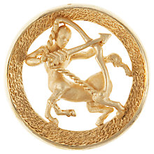 Buy Eclectica 1960s Trifari Sagittarius Zodiac Brooch, Gold Online at johnlewis.com
