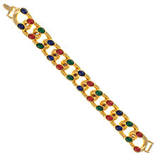 Buy Eclectica 1970s Glass Cabochon Chunky Link Bracelet, Multi Online at johnlewis.com