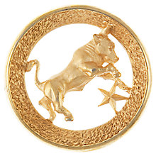 Buy Eclectica 1960s Taurus Zodiac Brooch, Gold Online at johnlewis.com