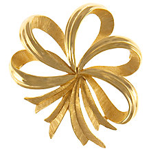 Buy Eclectica 1950s Trifari Gold Plated Bow Brooch Online at johnlewis.com