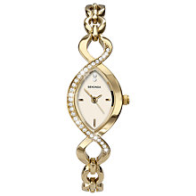 Buy Sekonda 4885.27 Women's Crystal Bezel Twist Bracelet Watch, Gold Online at johnlewis.com