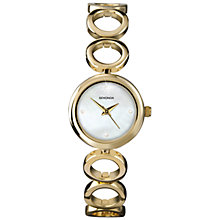 Buy Sekonda 4101.27 Women's Mother of Pearl Dial Circles Bracelet Watch, Gold Online at johnlewis.com