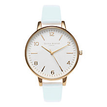 Buy Olivia Burton Women's White Dial Leather Strap Watch Online at johnlewis.com