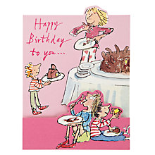 Buy Woodmansterne Eating Lots of Chocolate Birthday Card Online at johnlewis.com