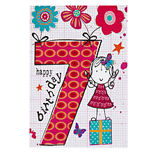 Buy Hammond Gower Girl 7th Birthday Card Online at johnlewis.com
