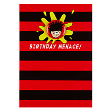 Buy Hype Dennis the Menace Badge Birthday Card Online at johnlewis.com