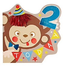 Buy Hotch Potch Monkey 2nd Birthday Card Online at johnlewis.com
