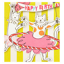 Buy Caroline Gardner Circus Cats Birthday Card Online at johnlewis.com