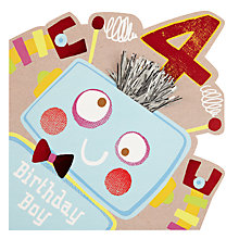 Buy Hotch Potch Robot 4th Birthday Card Online at johnlewis.com