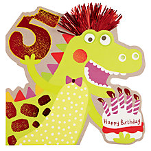 Buy Hotch Potch Dinosaur 5th Birthday Card Online at johnlewis.com