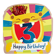 Buy Hotch Potch Lion 3rd Birthday Card Online at johnlewis.com