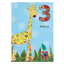 Buy Pigment Giraffe 3rd Birthday Card Online at johnlewis.com
