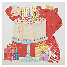 Buy Art Press Red Bear Birthday Card Online at johnlewis.com