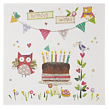 Buy Mint Chocolate Cake Birthday Card Online at johnlewis.com
