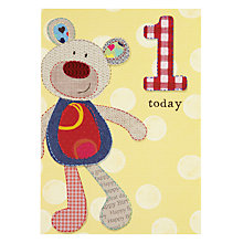 Buy Pigment Teddy Bear 1st Birthday Card Online at johnlewis.com