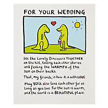 Buy Edward Monkton Lovely Dinosaur Greeting Card Online at johnlewis.com