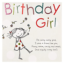 Buy Paperlink Birthday Girl Birthday Card Online at johnlewis.com