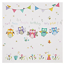 Buy Mint Birthday Owls Birthday Online at johnlewis.com