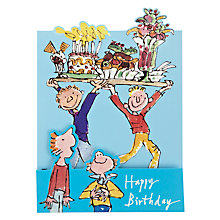 Buy Woodmansterne Balancing Tray of Cakes Birthday Card Online at johnlewis.com