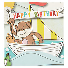 Buy Caroline Gardner Monkey Birthday Card Online at johnlewis.com