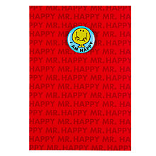Buy Hype Mr Happy Badge Birthday Card Online at johnlewis.com