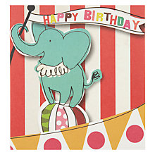 Buy Caroline Gardner Circus Elephant Birthday Card Online at johnlewis.com