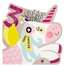 Buy Hotch Potch Unicorn 3rd Birthday Card Online at johnlewis.com